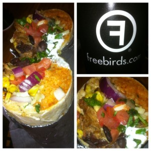 Freebirds: Monster Burrito with Slow Roasted Carnitas