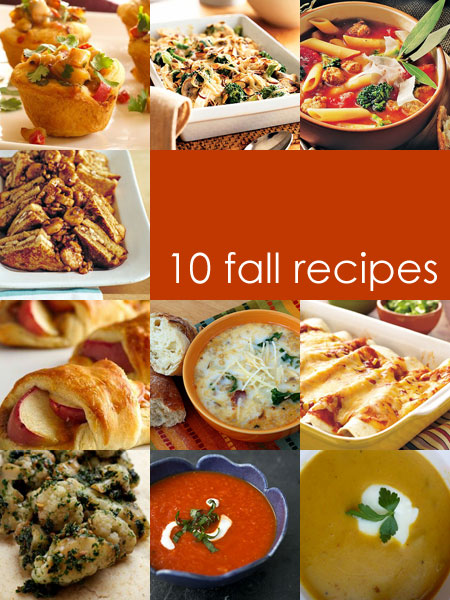 10 fall recipes soups