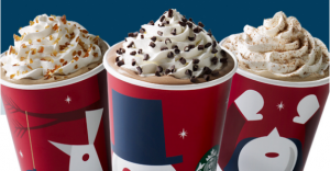 Peppermint Mocha, Caramel Brulée Latte or Gingerbread Latte