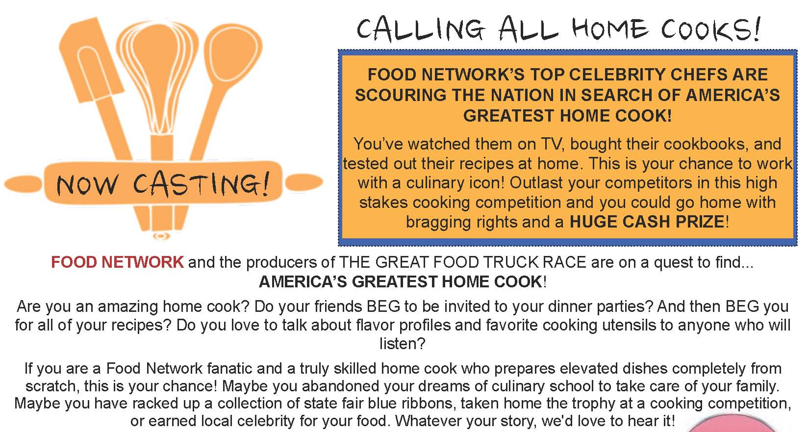 Home Cooks FN Flyer