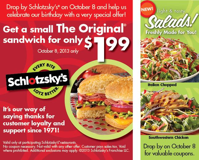 Celebrate Schlotzsky S On Oct 8 Dallas Food Nerd