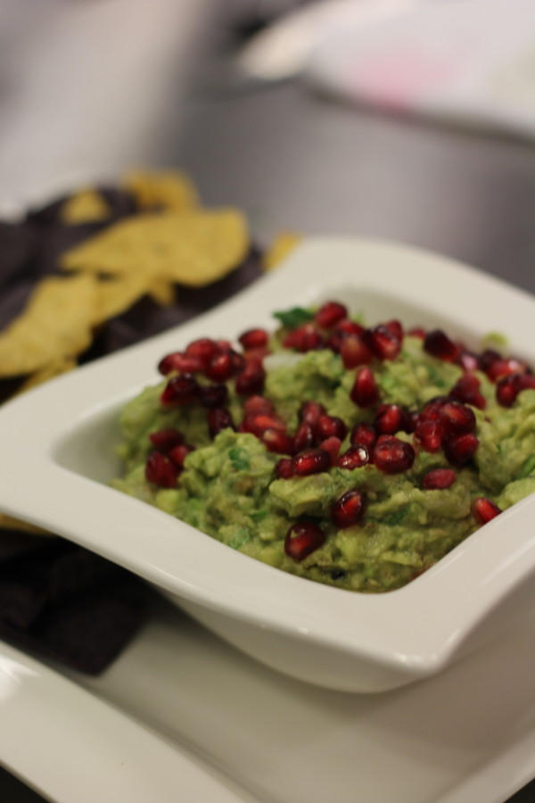 Guacamole with Toasted Walnuts and Pomegranate
