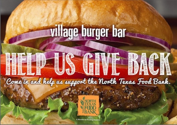 Dallas Village Burger Bar Giving 100% Profits to NTFB until 3/31!