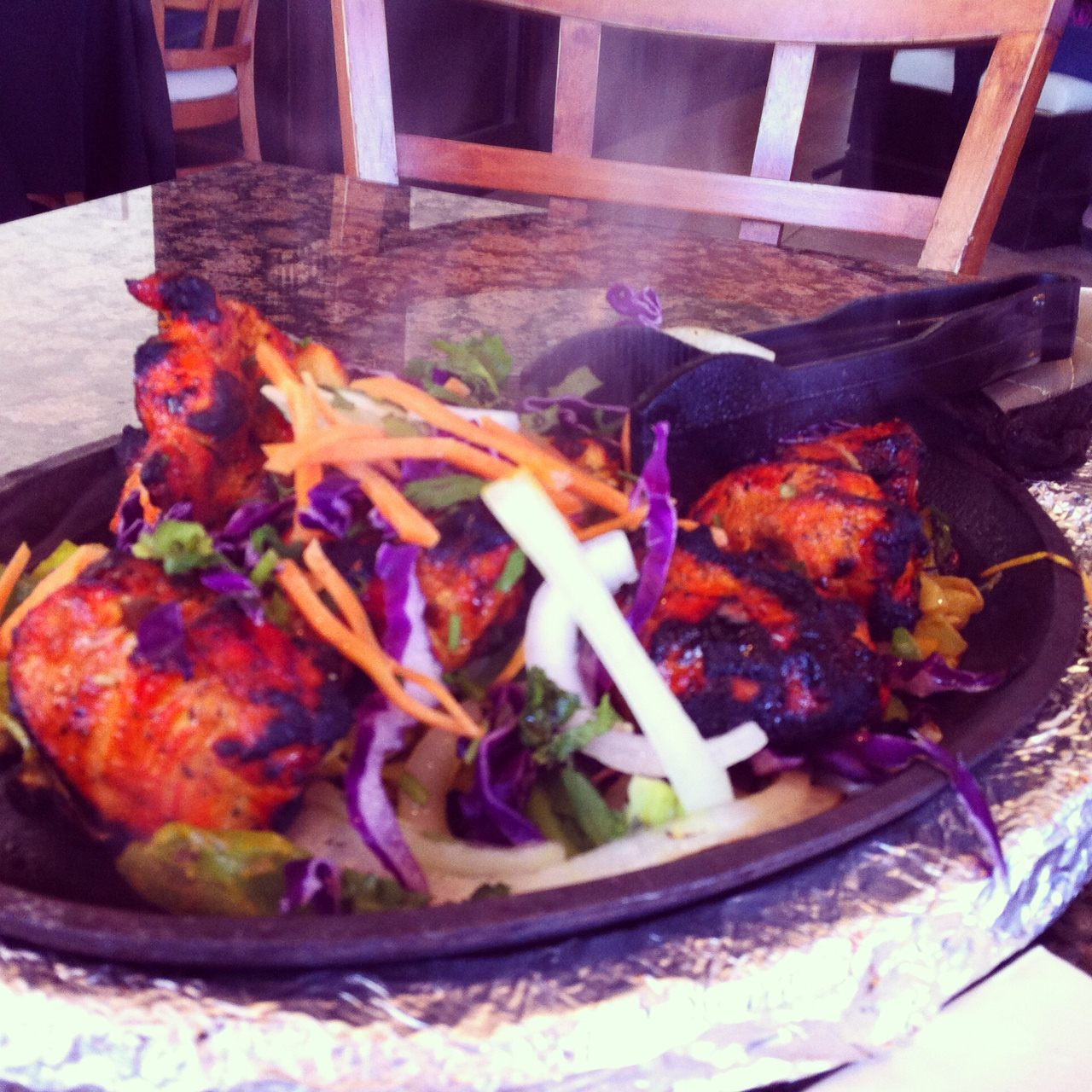 chicken dish from bombay sizzlers via dallasfoodnerd.com