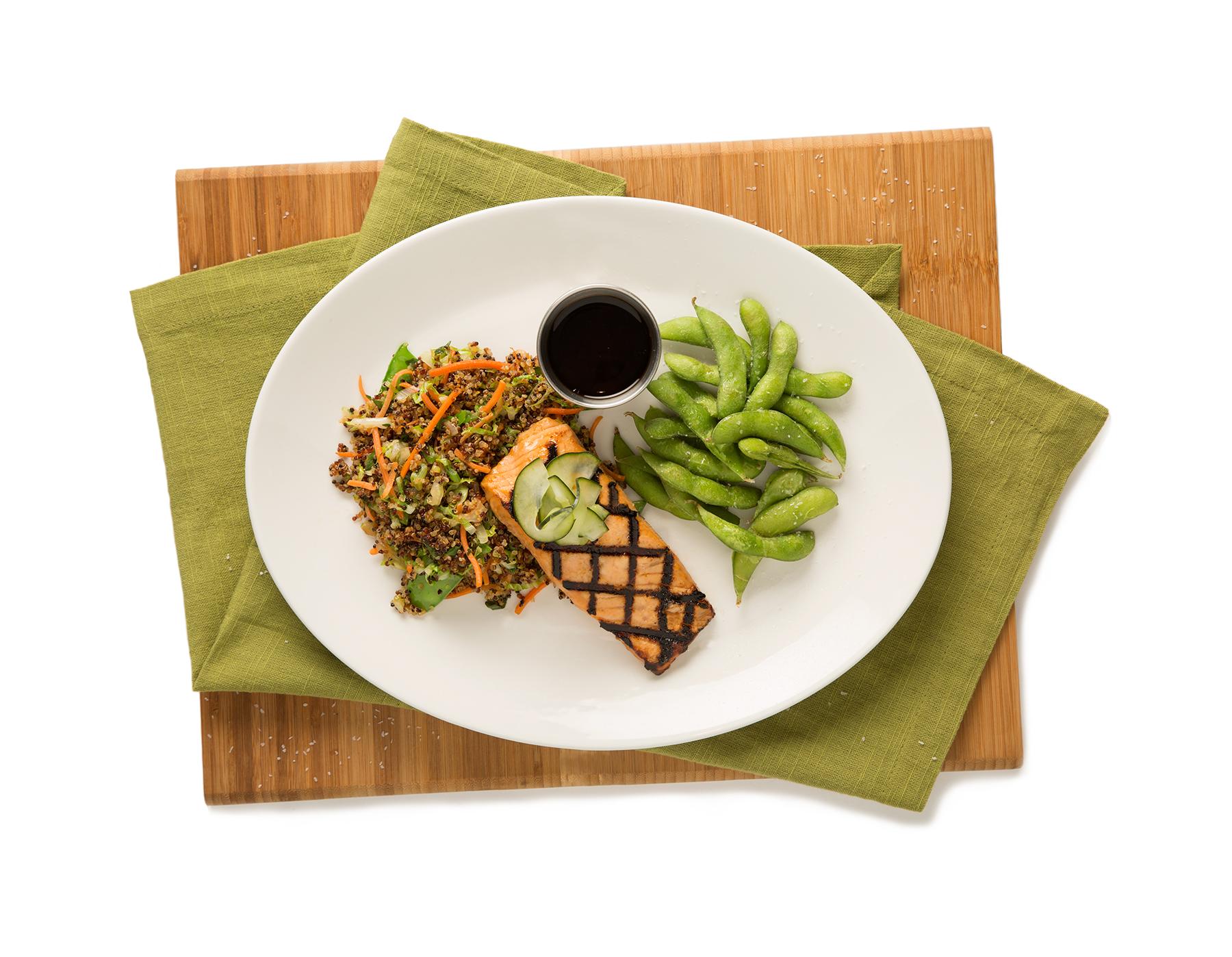 healthy salmon dish via dallasfoodnerd.com