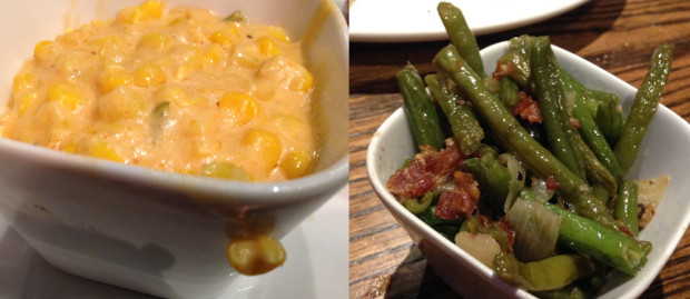 Spicy corn and bacon green beans from 3 Stacks