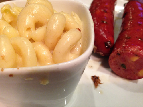 Mac & Cheese with Jalapeno Cheddar Sausage  from 3 Stacks BBQ in Frisco, TX