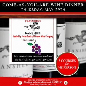 come as your are wine dinner