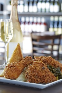 Southern Fried Chicken and Champagne via dallasfoodnerd.com