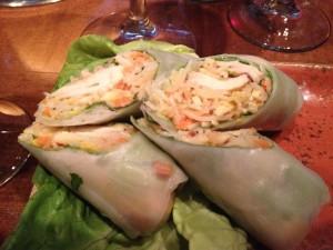 chicken spring rolls via dallasfoodnerd.com