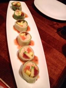 cucumber rolled sushi via dallasfoodnerd.com
