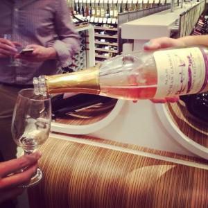 sparking wine from Dallas' cork wine bar via dallasfoodnerd.com