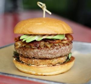 Fried Green Tomato Burger via dallasfoodnerd.com