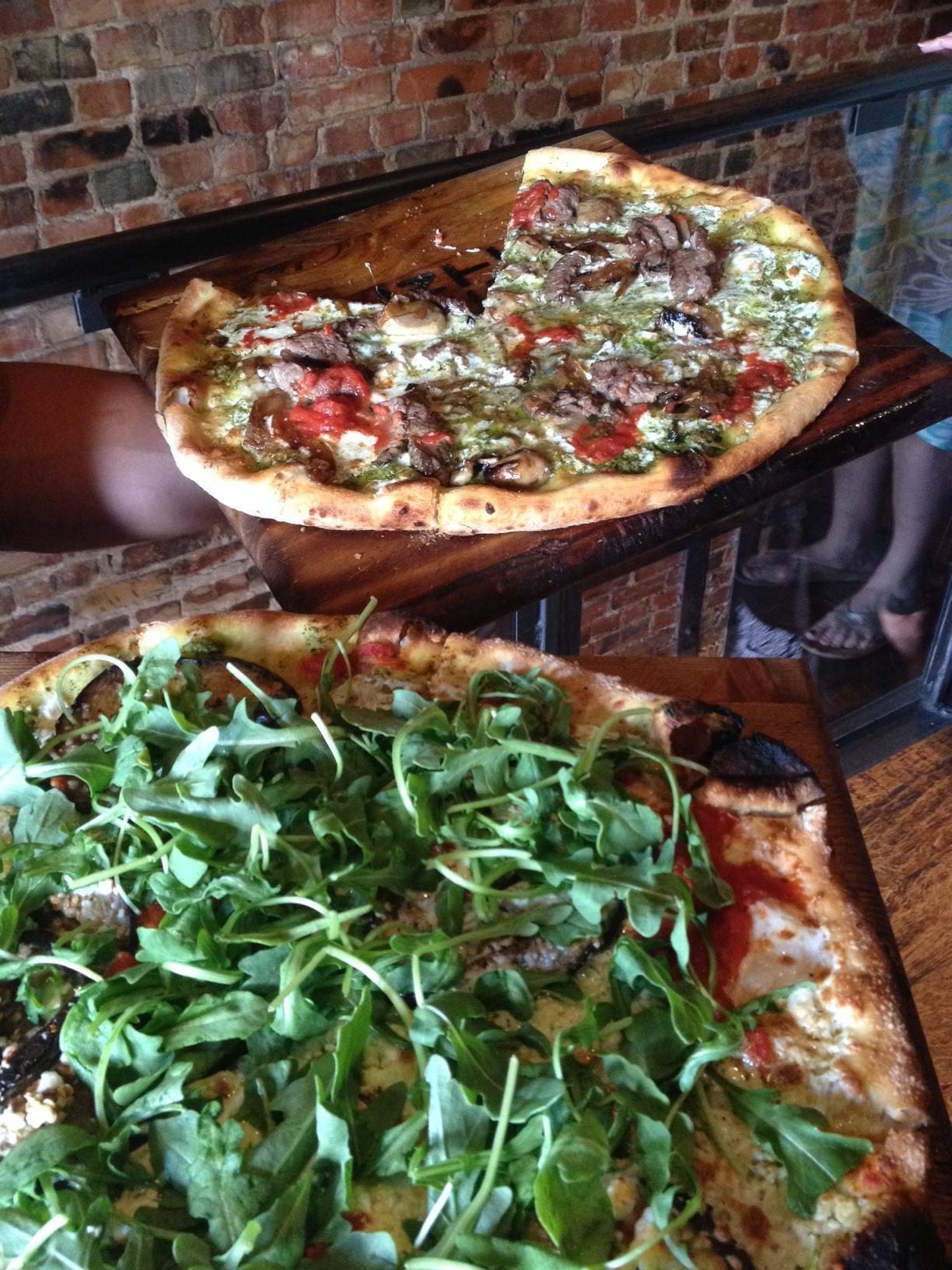 wood-fired pizza at urban crust via dallasfoodnerd.com