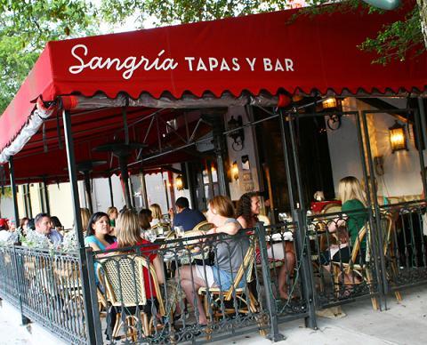 $5 cocktails every wednesday night at sangria tapas via dallasfoodnerd.com