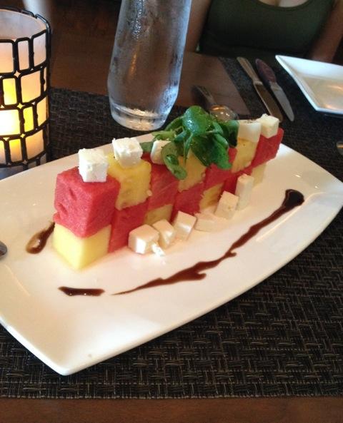 Watermelon & Feta appetizer at Grain Dallas via dallasfoodnerd.com