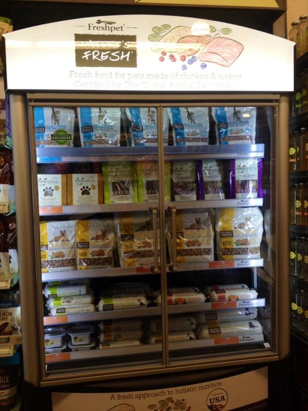 whole foods highland village dog food fridge via dallasfoodnerd.com