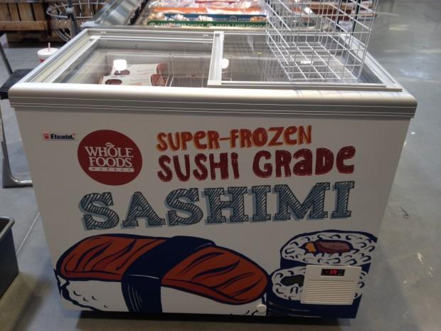 whole foods highland village sushi cart via dallasfoodnerd.com