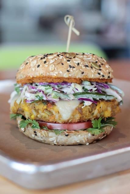 Great Kabocha Burger at Hopdoddy via dallasfoodnerd.com