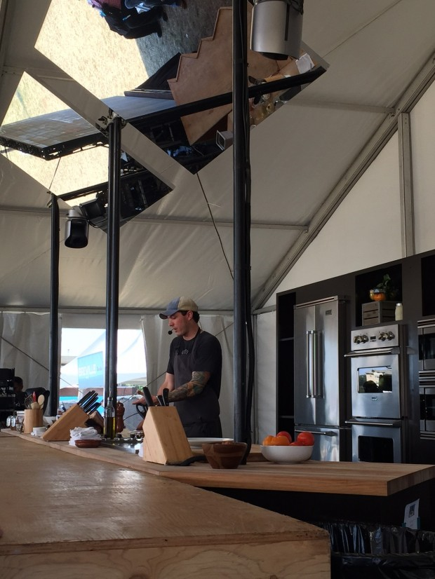 Owner of FT33 and Executive Chef Matt McCallister presenting a demo in the chef's tent via dallasfoodnerd.com