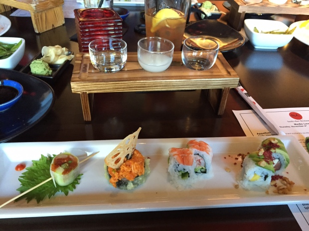 sake flight at RA Sushi via dallasfoodnerd.com