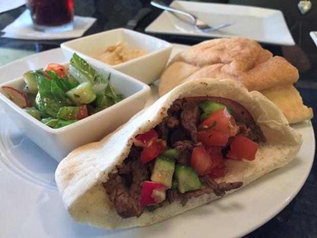 beef shawarma at Carmel in Coppell via dallasfoodnerd.com