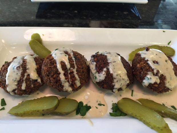 falafel appetizer at Carmel in Coppell via dallasfoodnerd.com