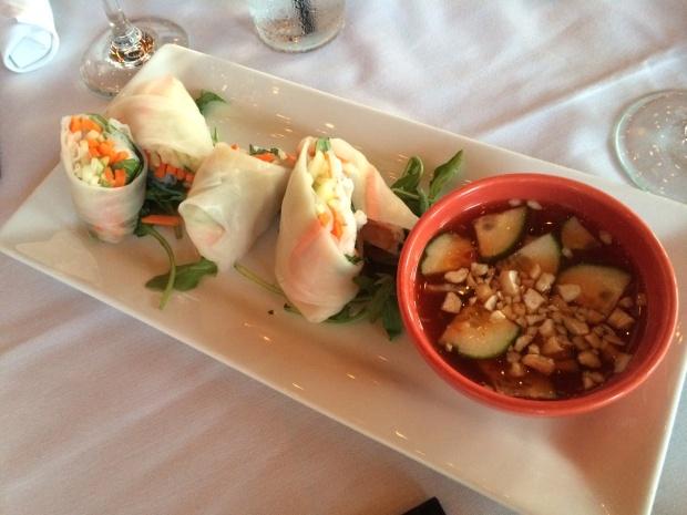 shrimp spring rolls at Nylo Hotel via dallasfoodnerd.com