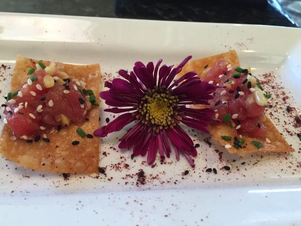 tuna tartare at Carmel in Coppell via dallasfoodnerd.com