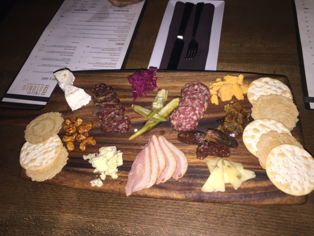 cheeseboard and meats at 12 stones via dallasfoodnerd.com