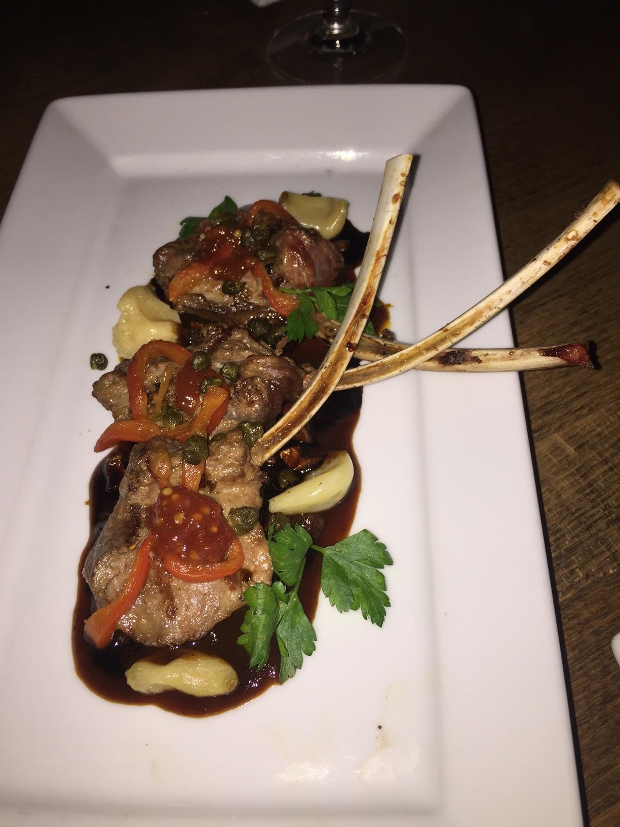 Lamb chop appetizer at 12 stones dallas food nerd for American cuisine appetizers