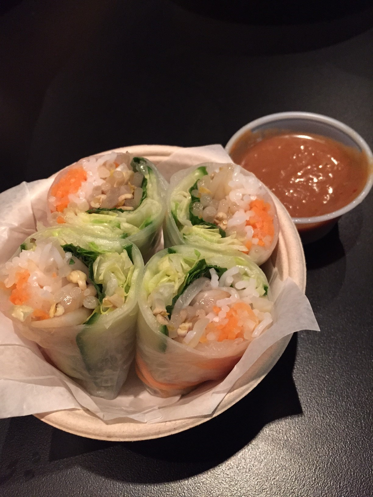 spring rolls at Banh Shop via dallasfoodnerd.com