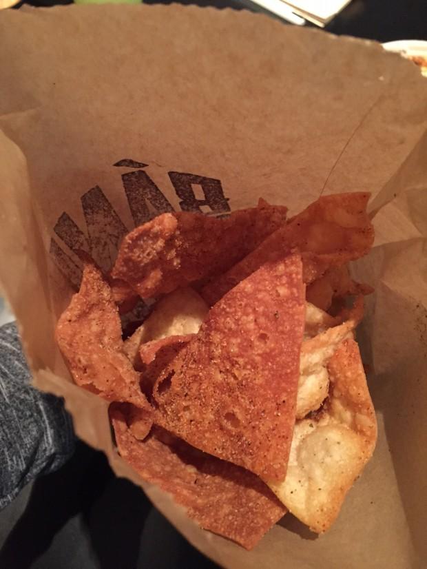wonton chips at Banh Shop via dallasfoodnerd.com