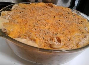 {Recipe} Comfort Food: Cheesy Tuna Casserole