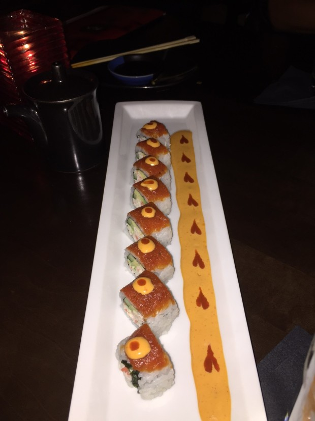red heart roll at RA Sushi via dallasfoodnerd.com