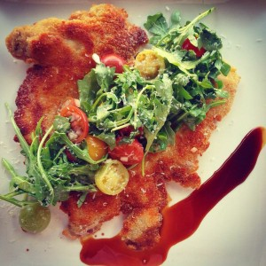 Chicken Milanese at oak via dallasfoodnerd.com
