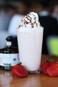 Strawberry Balsamic milkshake at hopdoddy via dallasfoodnerd.com
