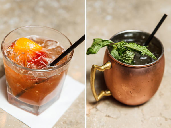 Mule Cocktails at Kennys Smokehouse via dallasfoodnerd.com