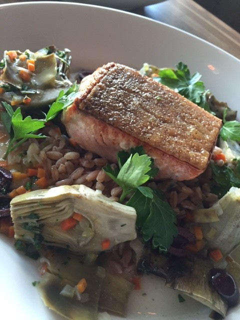 wild king salmon at front room tavern via dallasfoodnerd.com