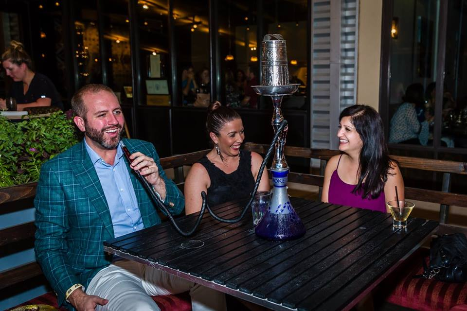 A Moroccan night at Souk Trinity Groves | Enjoying some hookah with my blogger friends.