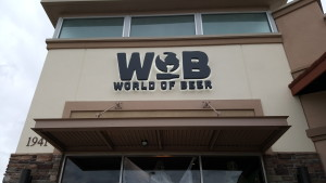 World of Beer Entrance Sign