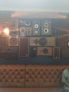 Vintage Speakers in Lounge Area