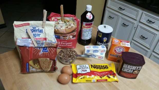 Chocolate Chocolate Chip Cookie Ingredients